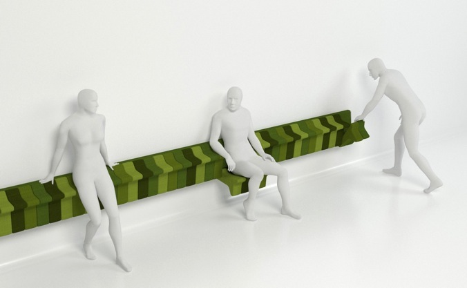 Jun Yasumoto's 'Suburban Train Seating'